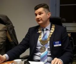 Visit of District 2231 Governor Łukasz Grochowski